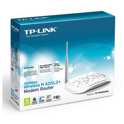 Tp-link Tp Link Td-w8951nd 4-port 150mbps Wireless N Adsl2+ Modem Router