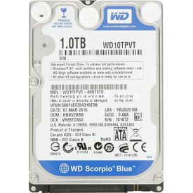 "Western Digital 1tb 2.5"" Wd Scorpio Blue 5200rpm 8mb Hdd resim"