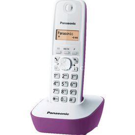 Panasonic KX TG1611 DECT TELEFON MOR_BEYAZ MOR_BEYAZ resim