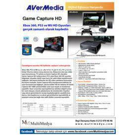 "Avermedia GAME-CAPTURE-HD HD 1080i Çözünürlükte Canlı Oyun Kaydı,2.5"" HDD yuvası resim"