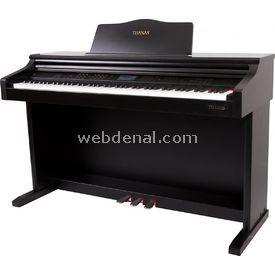 Tuanas Dijital Piyano Ahşap Kahverengi Tabureli resim