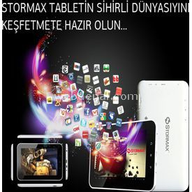 Stormax Stormax T701, 1gb, 16gb, 7'' Multitouch, Android 4.0 Ice Cream Sandwich, Beyaz, Tablet
