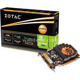 Zotac GEFORCE GT630 SYNERGY, 4 GB, 128 BİT, DDR3, EKRAN KARTI resim