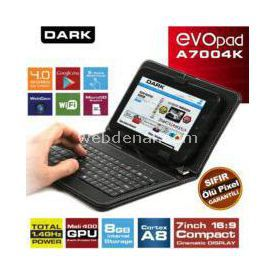 "Dark Dk-pc-evoa7004k Evopad A7004k 7"" 8gb Klavyeli Kılıflı Android 4.0 Kapasitif Tablet Pc"