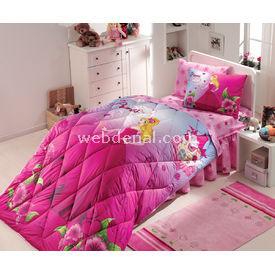 Resim hobby deluxe tek kişilik uyku seti prenses fuşya uyku setleri
