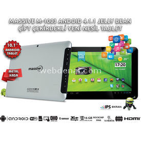 Massive M-1003 10.1'' IPS-1GB RAM-16GB-BLUETOOTH-ANDROİD TABLET resim