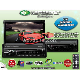 Kamosonic KS-7910 7'' OTO INDASH TV-BLUETOOTH-USB-SD-DIVX resim