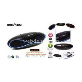 Mikado MD-82FM-M SİYAH/MAVİ USB+SD+FM DESTEKLİ MİNİ MÜZİK KUTUSU resim