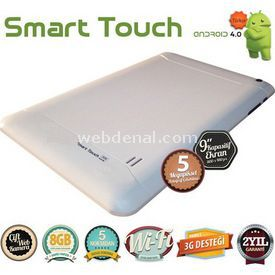 "Quadro SMART TOUCH 8GB 9"" BEYAZ TABLET resim"