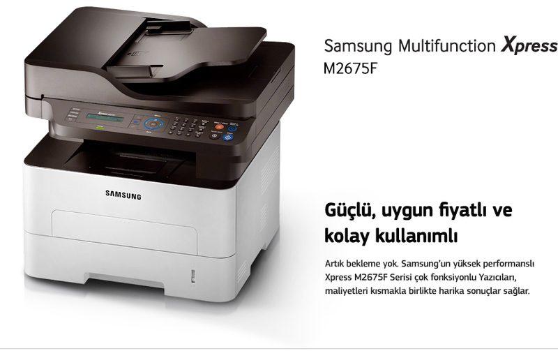 Güçlü, uygun fiyatlı ve kolay kullanımlı. Artık bekleme yok. Samsung'un yüksek performanslı Xpress M2675F Serisi çok fonksiyonlu Yazıcıları, maliyetleri kısmakla birlikte harika sonuçlar sağlar.