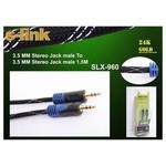 S-link Slx-960 1.5m Gold Kilifli Stereo Ses Kablos