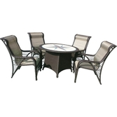 Andoutdoor Yuvarlak Sehpa 4 Sandalye Gla01-4630 (grf-1068)