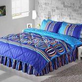 Taç Tekstil Taç Lester Uyku Seti Çift Kişilik - Mavi