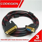 Codegen Cpd19 3 Metre Dvı / Vga Çevirici Kablo M/f