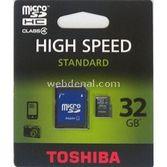 Toshiba 32 Gb Micro Sdhc Class-4 High Speed Adaptör