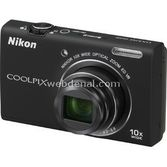 "Nikon Coolpix S6200 16mp 10x Optik 2.7"" Lcd 720p Hd Dijital Kompakt Siyah"