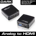 Dark Dk Hd Avgaxhdmı  Vga To Hdmı Aktif Dönüştürücü