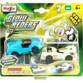 Maisto Glow Riders Parlayan Fosforlu Ikili Oyuncak Araba Model 6