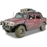 Maisto Hummer H2 Sut Concept 1:18 Model Araba Dirt Riders Kirmizi