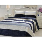 Taç Tekstil Taç Line Çift Kişilik Yatak Örtüsü - Mavi