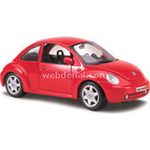 Maisto Volkswagen New Beetle 1:24 Model Araba S/e Kirmizi