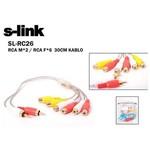 S-link Sl-rc26 60 Cm 2 Rca - 2 Rca Ses Kablosu (m/f)