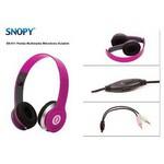 Snopy Sn-911-pembe Kafabantli Pembe Mikrofonlu Kulaklik