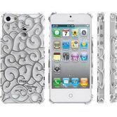 Microsonic Iphone 5 & 5s Chrome Desenli Kilif Gümüş