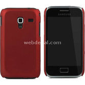 Microsonic Rubber Kilif Samsung Galaxy Ace Plus S7500 Kirmizi