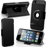 Microsonic 360 Rotating Stand Deri Kilif  Iphone 5 Siyah