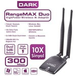 DARK DK-NT-WDN300HP2A RangeMax yüksek menzilli, win8 uyum 2x5dBi Antenli (300 Mbps) Usb dongle
