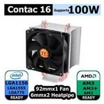 Thermaltake Cl-p0598 Contac 16  Intel 1156/775 Ve Am3/am2/am2 Uyumlu Cpu Soğutucusu