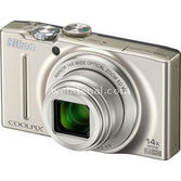 Nikon Coolpix S8200 16mp 14x Optik Zoom 3.0 Dijital Kompakt Gümüş