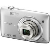 "Nikon Coolpix S3500 20.1 Mp 7x Optik 2.7"" Lcd Digital Kompakt Gümüş"