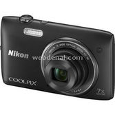 "Nikon Coolpix S3500 20.1 Mp 7x Optik 2.7"" Lcd Digital Kompakt Siyah"