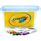Crayola 96 Mini Keçeli Kalem Sınıf Paketi - Okul Paketi Mavi 4250000019519