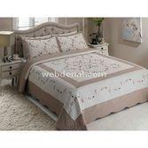 Taç Tekstil Taç Bona Yatak Örtüsü Çift Kişilik - Bej