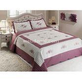Taç Tekstil Taç Rita Yatak Örtüsü Çift Kişilik - Lila