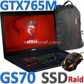 MSI Gs70 2od-060tr (stealth) Superr I7-4700hq 16 Gb 2 X 128 Ssd Raid + 1 Tb 2 Gb Vga 17.3""