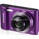 "Samsung Wb30f 16.2 Mp 10x Optik 3.0"" Lcd Hd Video Wi-fi Dijital Kompakt Mor"