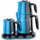 Korkmaz A367-03 Mavi Inox Elektrikli Çay Kahve Makinesi