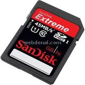 Sandisk Sdsdx-032g-x46 32gb, Extreme Hd Video Secure Dijital High Capacity Sdhc Kart, 45mb