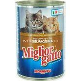Miglior Gatto Manzo Biftekli Yetişkin Kedi Konservesi 405gr  8007520012126