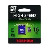 Toshiba Sd-c16gjbl5a Fla 16gb Micro Sd Sdhc Adaptorlu