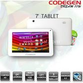 "Codegen Dream 77 7"" 1g/8gb/and4.2/beyaz+klf"