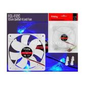 Frisby Fcl-f12c Fcl-f12c 120 Mm Fan 4-led Blue