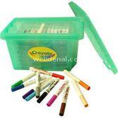Crayola 96 Mini Keçeli Kalem Sınıf Paketi - Okul Paketi Yeşil 4250000019502