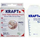 Kraft 25'li Süt Saklama Poşeti