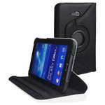 Microsonic 360 Rotating Stand Deri Kılıf Samsung Galaxy Tab 3 7.0 Lite T110 Siyah