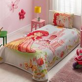 TAÇ TEKSTIL TAÇ STRAWBERRY SHORTCAKE PRİNCESS LİSANSLI PİKE TAKIMI
